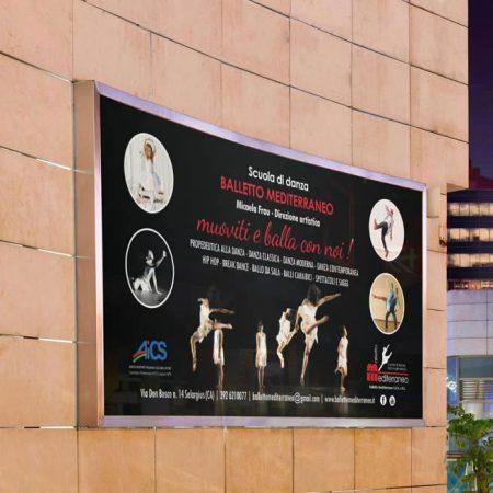 Manifesto 6X3 Scuola di Danza Balletto Mediterraneo